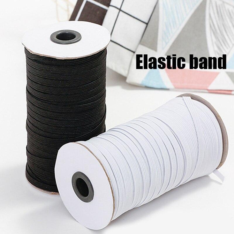 Cuerda Elástica trenzada de 3mm, cuerda elástica pesada, carrete de costura de 100/200 yardas para fabricación de joyas, para la venta
