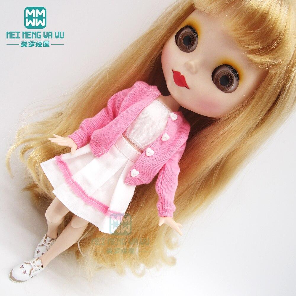 1pcs Blyth Doll Clothes fashion Cardigan Three Piece Set for Blyth Azone OB23 OB24 1/6 doll accessories