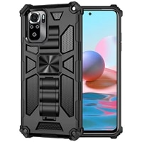 shockproof anti fall armor phone case for xiaomi redmi note 10s 10 pro max 4g with metal magnetic rugged bracket protector cover
