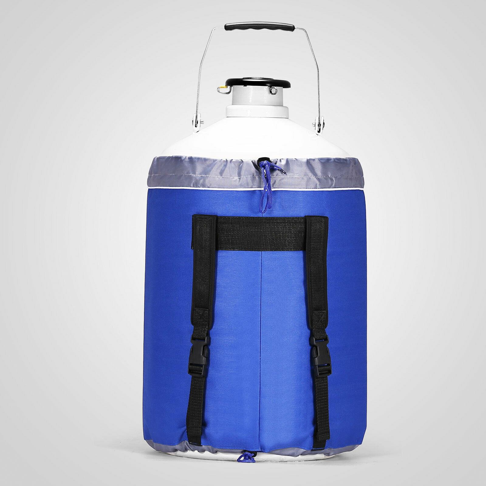 Tanque de nitrogênio líquido ln2 garrafa tanque recipiente freeze dewar cryogenics 10l