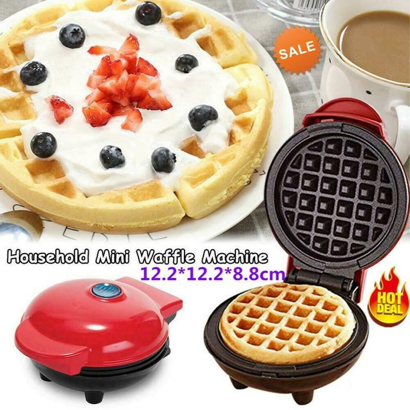 Mini máquina de waffle antiaderente panqueca cozida lanche panini panini pancake maker cozinha ferramenta acessórios