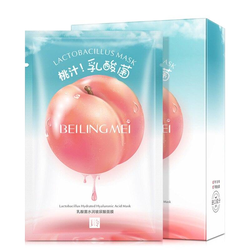 10 pièces pêche lait maternel yaourt masque hydratant acide lactique masque hydratant rajeunissement de la peau soins de la peau
