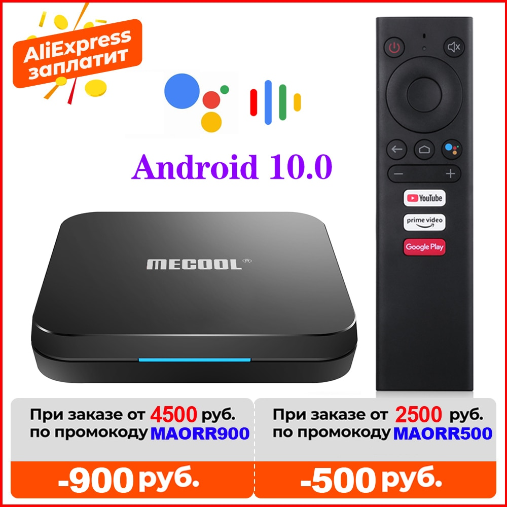 MECOOL KM9 Pro ivi certificado por Google Androidtv Android10.0 4GB 32GB Amlogic...