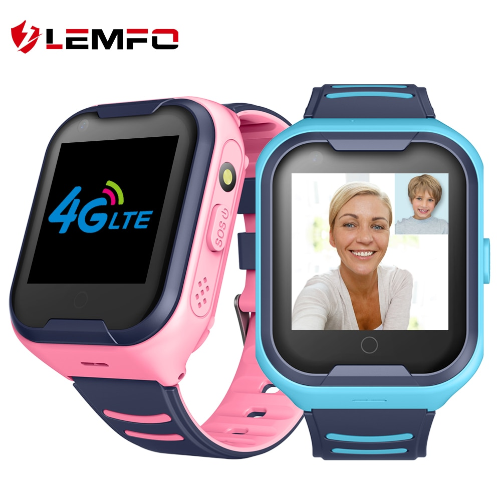 LEMFO G4H 4G الاطفال ساعة ذكية لتحديد المواقع واي فاي Ip67 مقاوم للماء 650Mah بطارية كبيرة 1.4 بوصة عرض كاميرا التقاط الفيديو Smartwatch الاطفال
