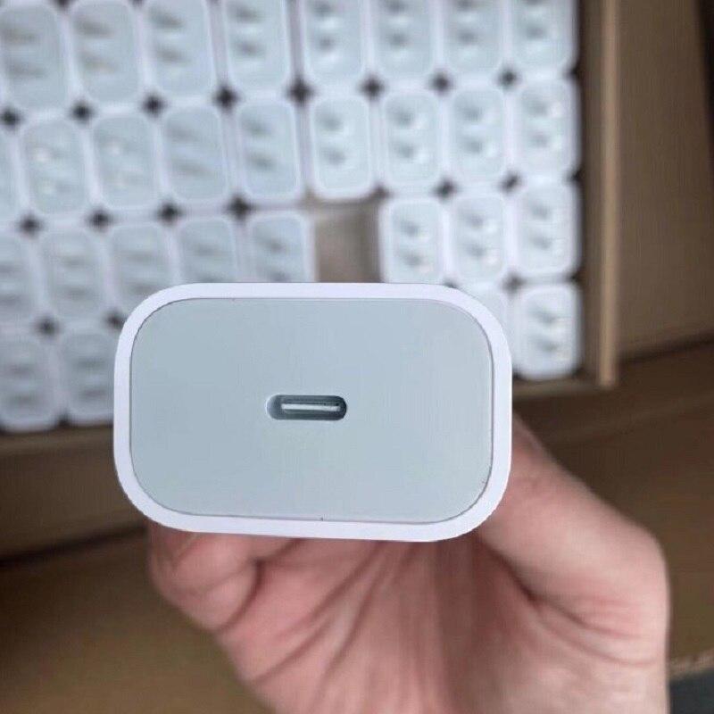 100 قطعة/الوحدة USB C PD شاحن الولايات المتحدة/الاتحاد الأوروبي 20 واط QC4.0 QC3.0 USB نوع C سريع شاحن آيفون 12 11 X Xs PD شاحن