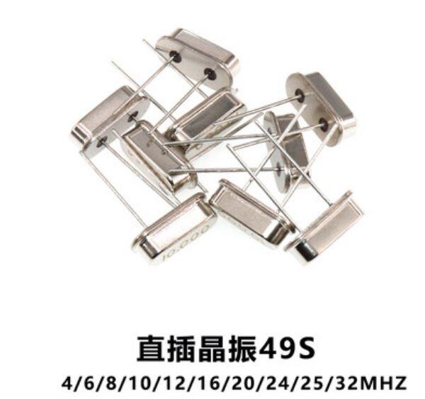 Hc-49s oscilador de cristal electrónico Kit resonador de cuarzo 32.768MHZ 4MHZ 8MHZ 12MHZ 16MHZ 20MHZ 25Mhz