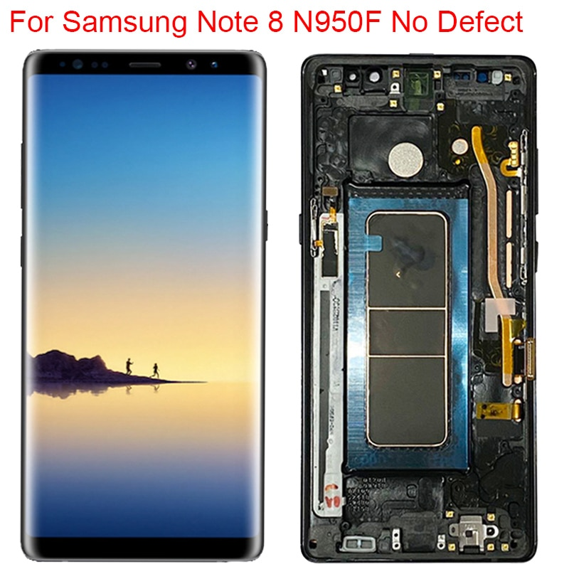 New Original N950F LCD For Samsung Galaxy Note 8 Display With Frame Super AMOLED Note 8 SM-N950A N95