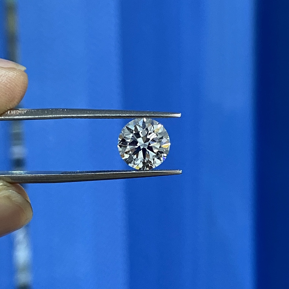 Meisidian IGI Lab نمت 1 قيراط 6.5 مللي متر CVD الماس VS1 وضوح G اللون حجر فضفاض لصنع حلقة