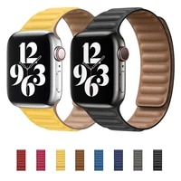 leather link loop strap for apple watch band 44mm 40mm iwatch series 6 se 5 4 3 2 1 watchbands bracelet 42mm 38mm wristbands
