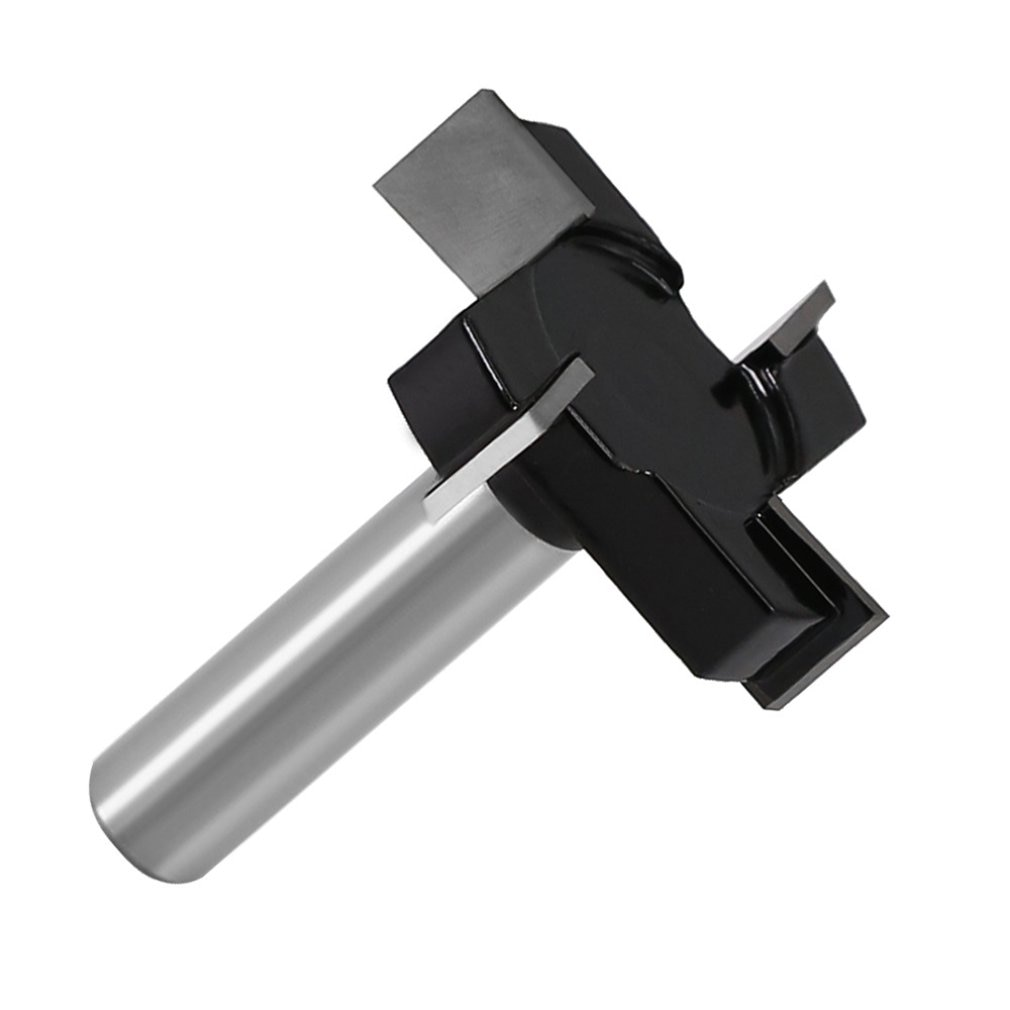 12mm Vier klingen T Typ Stoßen Cutter Holz Werkzeug Router Bits Für Holz Industrie Grade Fräser Schlitzen