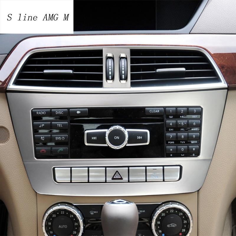 Estilo de coche interior botones panel de decoración de recorte cubierta de...