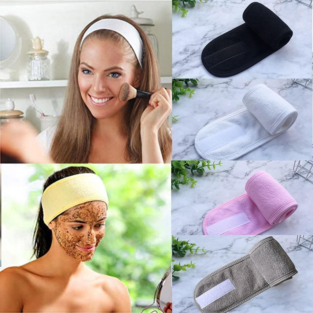 Feminino ajustável bandana facial hidroterapia maquiagem lenço de cabelo maquiagem toalha de banho esportes headscarf acessórios # t1p