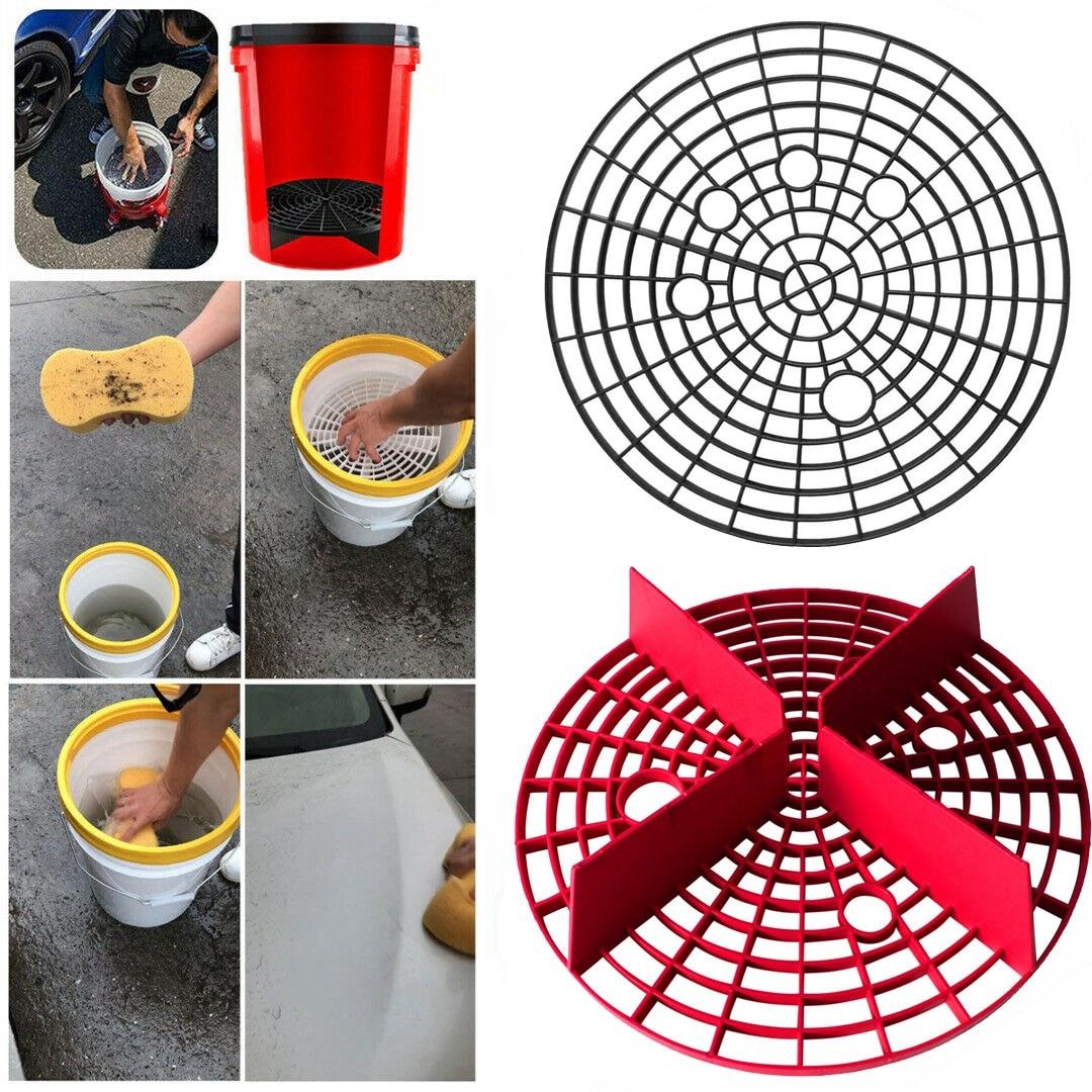 Outil de protection pour le lavage de voiture   Insertion de protection pour le lavage de voiture, seau à eau, filtre à rayures, outil de nettoyage de voiture, accessoires de lavage de 23.5cm # R20