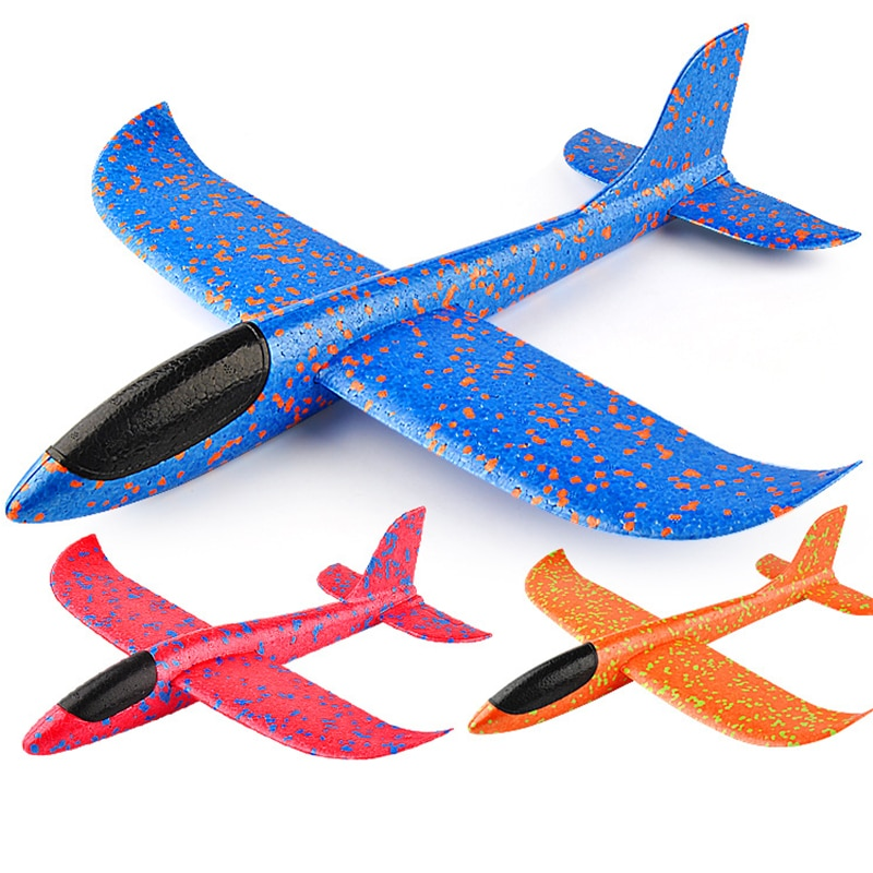 Hand Launch 35cm Flying Throw Airplane Outdoor Sports Toys for Children Glider Aircraft Model Foam Gliding Boys Fun Game Figure