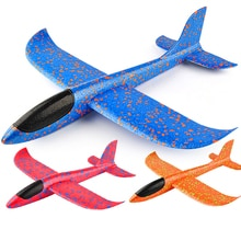 Hand Launch 35cm Flying Throw Airplane Outdoor Sports Toys for Children Glider Aircraft Model Foam G