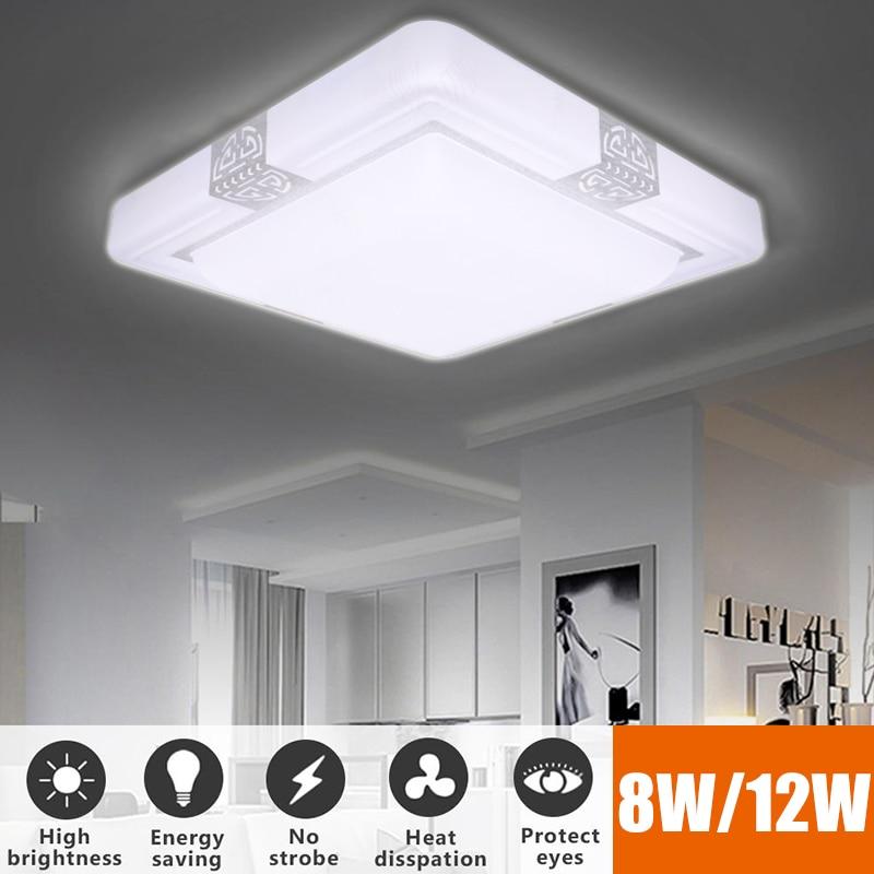 8W 12W LED Ceiling Lights Square Rectangular Modern Led Ceiling Lamps for Living Room Surface Mounted Led Ceiling Lighting