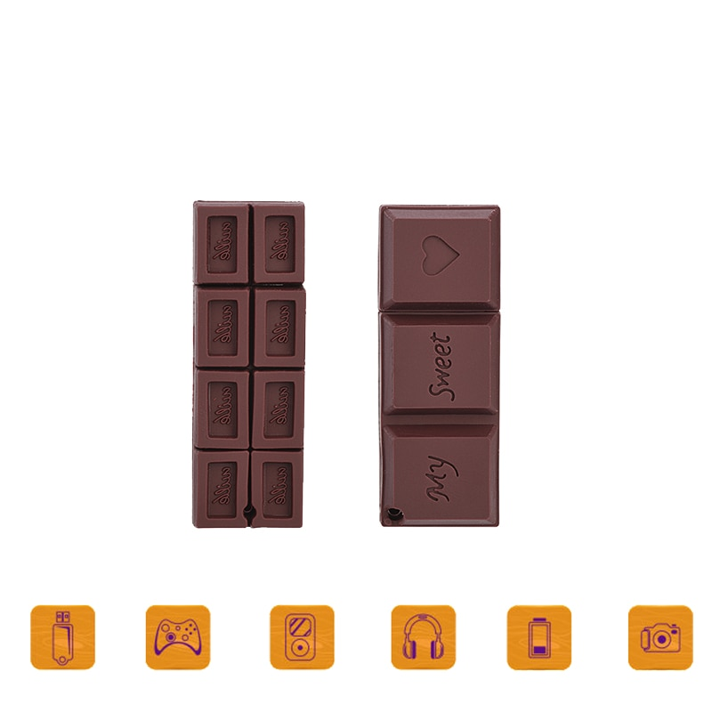 Real capacity chocolate model usb flash drive 64gb 2.0  32GB pendrive 128GB gift pen 64 gb Memory stick