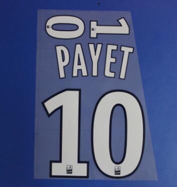 2019 2020 #10 Payet #9 BENEDETTO #26 THAUVIN #19 L. GUSTAVO Nameset печатная футбольная нашивка