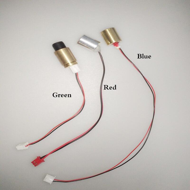 Rojo 150mW 650nm verde 50mW 532nm azul 450nm diodo láser punto proyector iluminación puntero diodos de circuito partes Sigh cobre cabeza