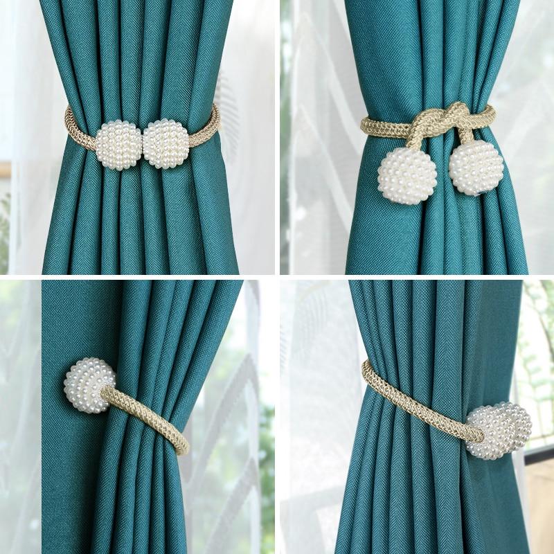 Ball Perle Magnet Vorhang Raffhalter Flexible Schnallen Vorhang Seil Moderne Einfachen Magnetischen Vorhang Halter Clips Dusche Accessoire