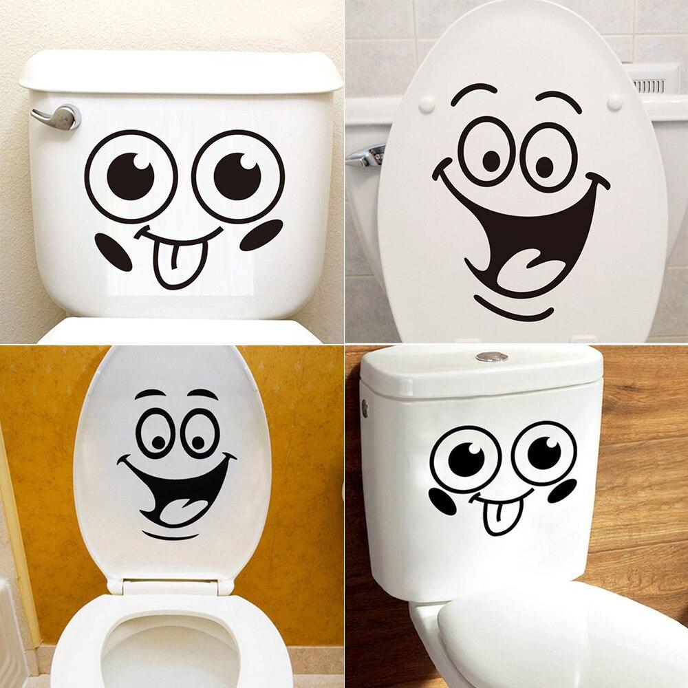 lovely cartoon tissue cattle toilet wall stickers Funny Smile Toilet Stickers Lovely Wall Decal Home Decor Art PVC Vinyl Bathroom Decoration Waterproof Home Decoration Stickers