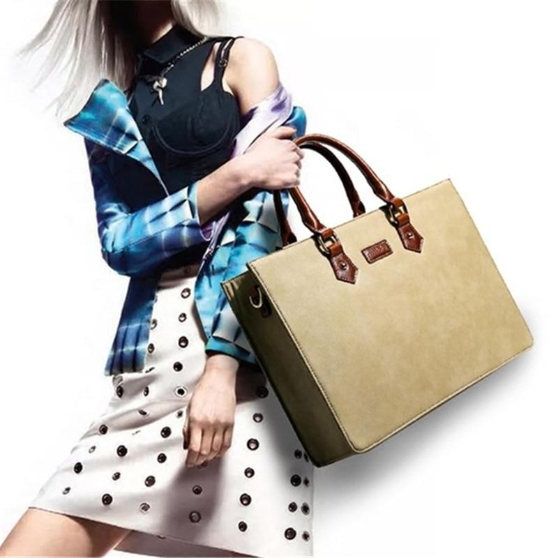 New leather Briefcase Women handbags 2021 Male handbags Cross-border goods Simple handbag Ms. Briefcase Shoulder Messenger bags