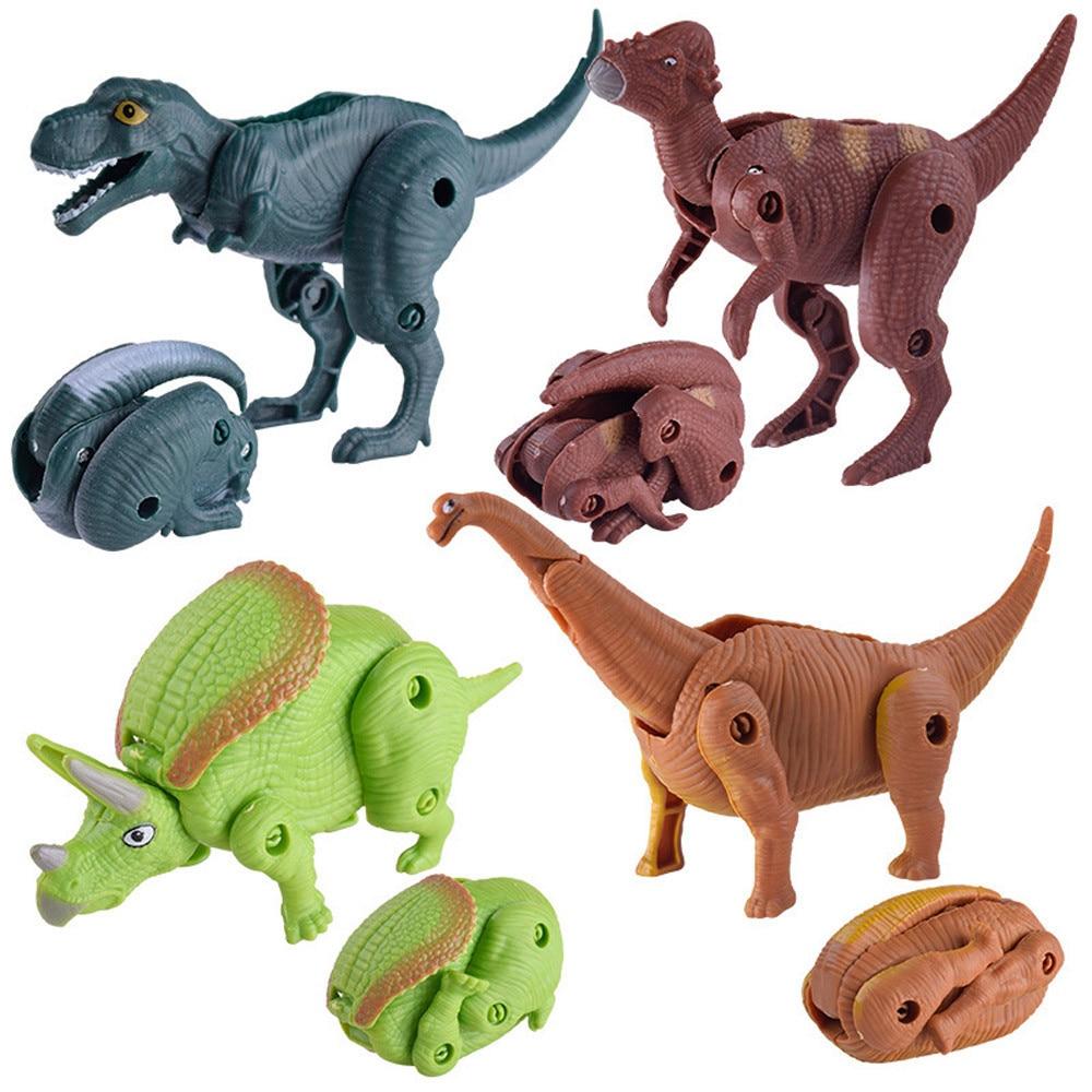 Simulation Dinosaur Toy Model Deformed Dinosaur Egg Collection For Kids Plastic Play Toys Dinosaur Model Boy Gift dropshipping