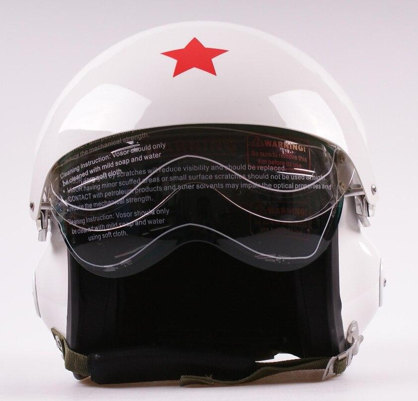 خوذة دراجة نارية ، قناع مزدوج ، سلاح الجو ، طيار ، وجه مفتوح ، أبيض ، فيسبا