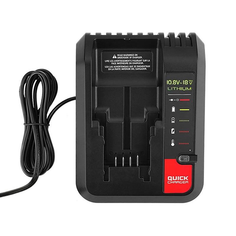 Nuevo cargador de batería de litio de repuesto para Black and Decker portátil CABLE Stanley cargador de batería de litio 2A 10,8-20 V 100-240V
