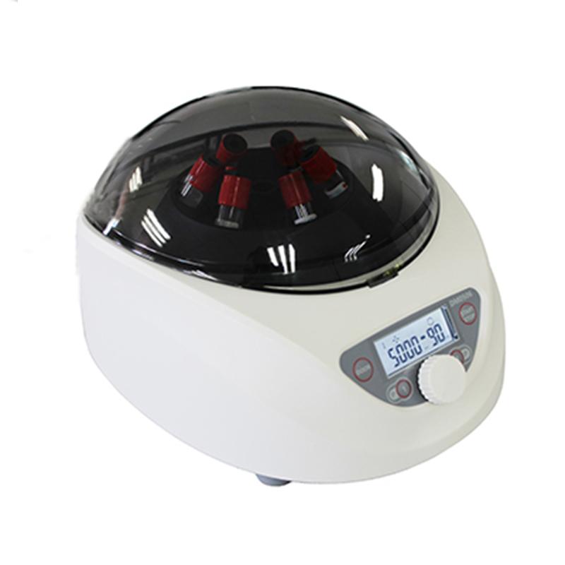 PCR Low Speed Centrifuge Medical Laboratory 300-5000rpm Adjustable Digital Display Centrifuge 5ml/7ml/10ml/15ml*6 Tube