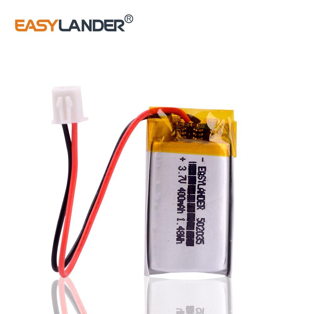 JST XHR 2.54 502035 400mAh Lipo Li Ion battery Fr MP3 Pedometer Bluetooth Headset Radio PCM Protected Lithium Polymer Batteries
