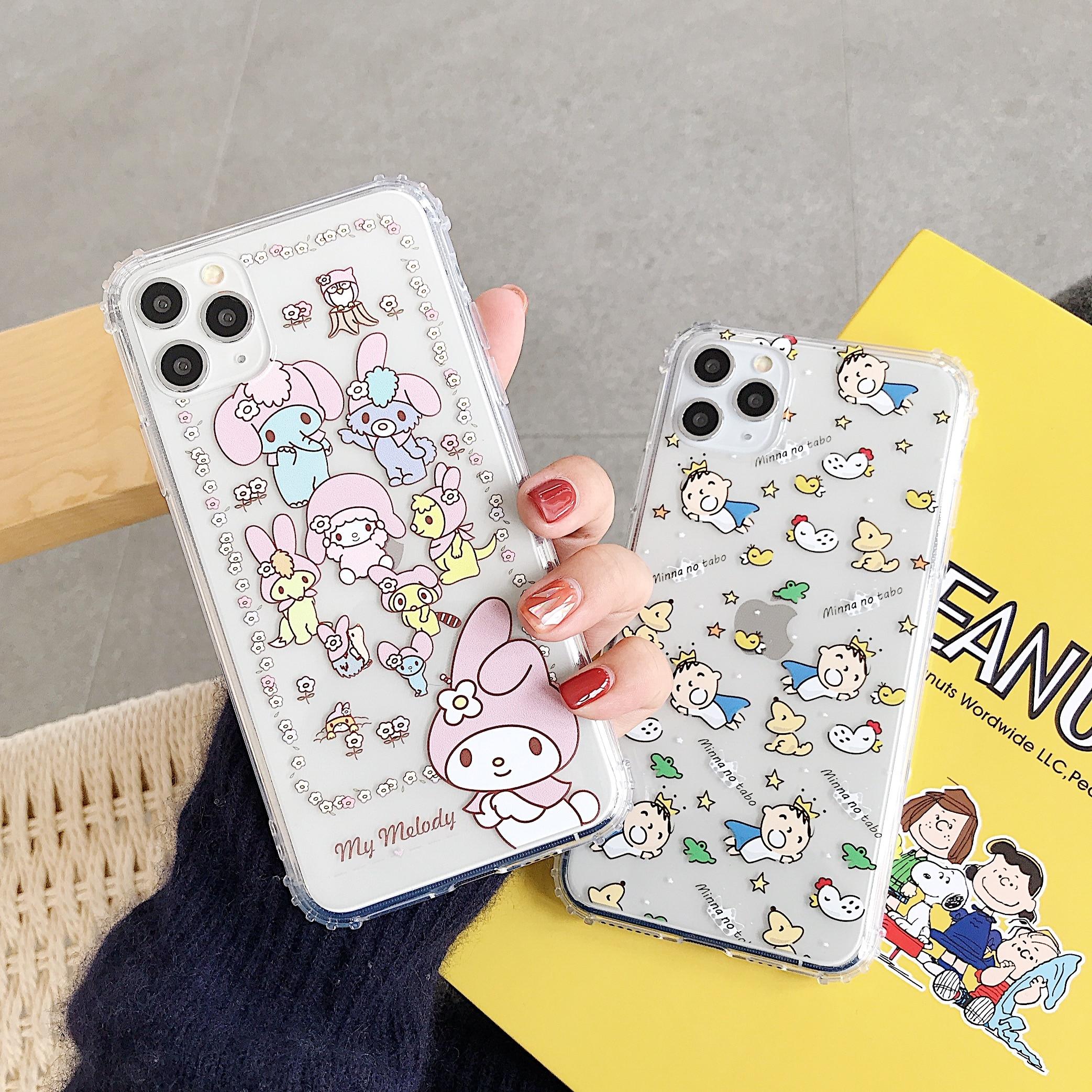 2020 nueva llegada Melody Cinnamoroll perro muñeca teléfono caso para iphone 11 Pro Max casos TPU suave para iphone XR XS MAX X 7 8 plus