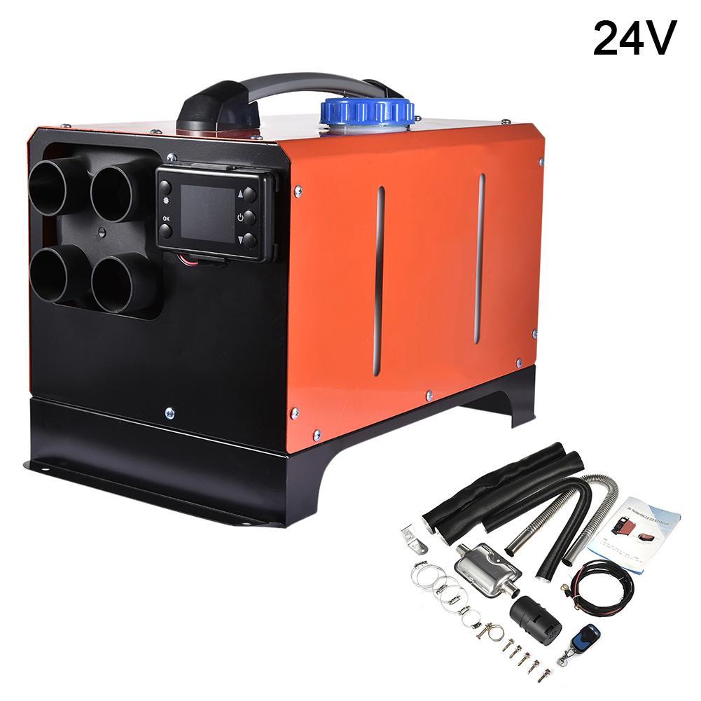 Calentador auxiliar en calentadores eléctricos 5KW 12V24V calentador de combustible diésel de aire calentador de estacionamiento de coche para secador de pelo seco de coche para camiones de coches