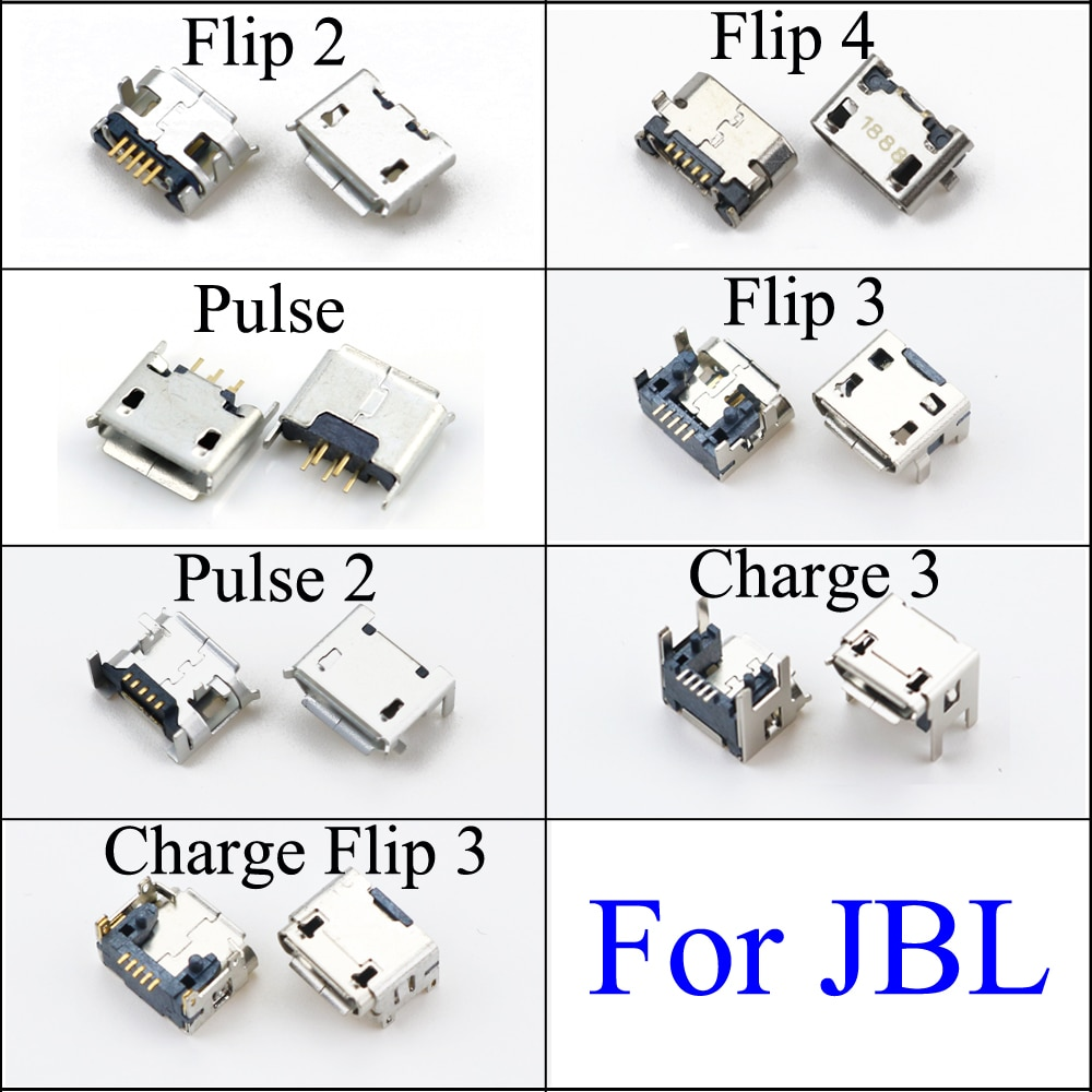 YuXi For JBL FLIP 2 3 4 Pulse 2 Charge 3 Bluetooth Speaker Micro USB Jack Dock Charging Port Charger Connector Power Plug