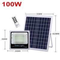 4pcs 120W Led Flood Light Refletor Solar Floodlight 40W 60W 80W 100W Led Solar Lamp Waterproof Led Light Outdoor Remote Control