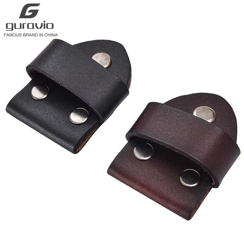 3 sets Belt Head Connection Leather Pin Buckle Cowhide Belts Accessories Smooth Buckle Link Leather Screw Belt Attachment