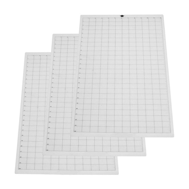 Oferta, 3 uds., esterilla de corte transparente con rejilla de medición para camafeo de silueta, Cricut Explore