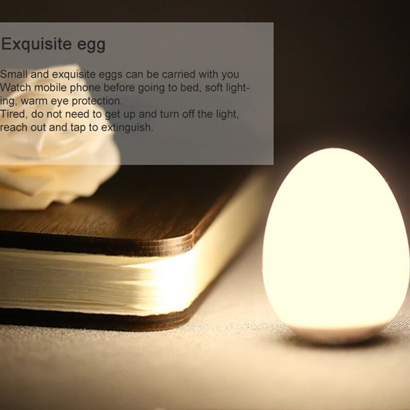 Creative Cartoon Bird Light Bird Egg Light Detachable Easy To Install Natural Wood Children'S Bedroom LED Induction Night Light enlarge