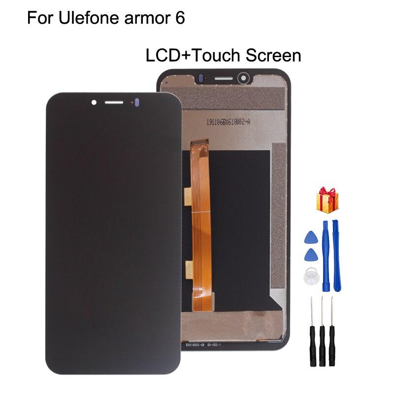 الأصلي ل Ulefone درع 6 شاشة LCD تعمل باللمس الجمعية 6.2 بوصة إصلاح جزء ل Ulefone درع 6E 6 LCD شاشة عرض
