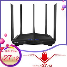 Tenda AC11 Gigabit Dual-Band AC1200 Wireless Wifi Router WIFI Repeater 5*6dBi High Gain Antennas Wider Coverage Easy setup