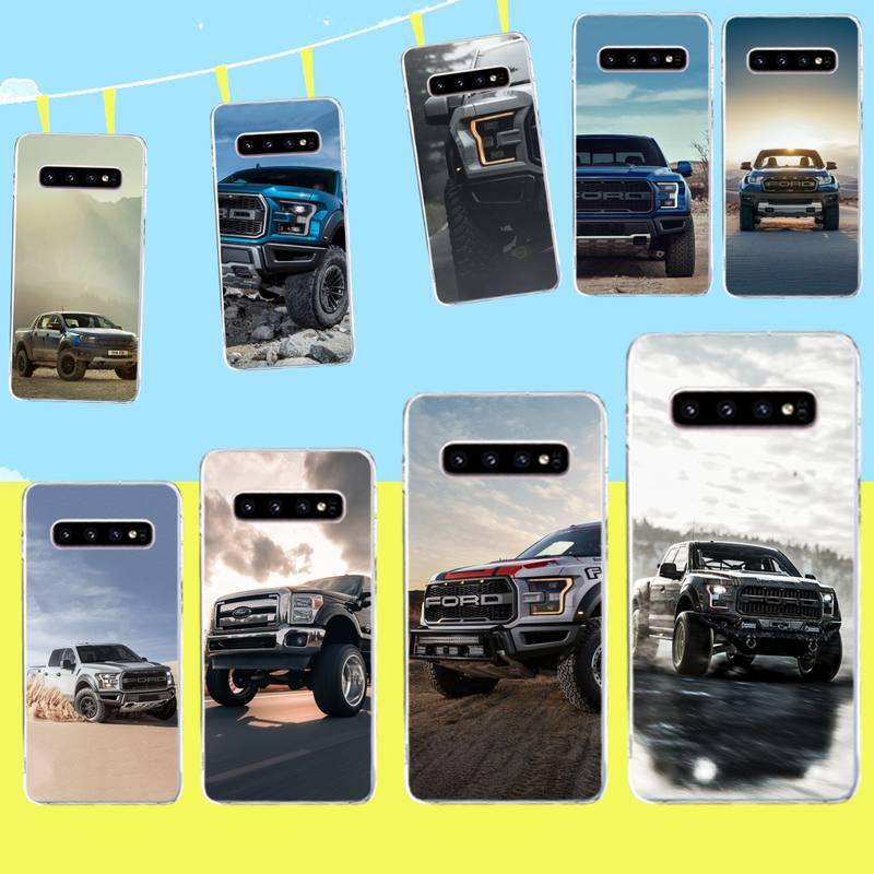 Cubierta de teléfono de silicona suave de penthuwan Pickup truck ford raptor TPU para Samsung S9 plus S5 S7 S6 edge S8 S10 plus