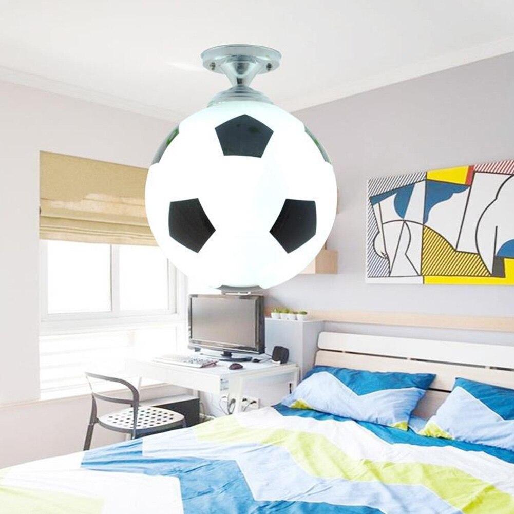 Детский балкон Спорт Стекло Крытый кофе бар для мальчиков светильник ing конструкция светодиодный светильник детская комната форма футбола