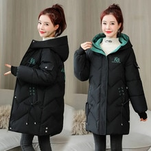 2021 Parka New Winter Jacket Women Coat Long Hooded Outwear Female Parka Thick Warm Cotton Padded Fe