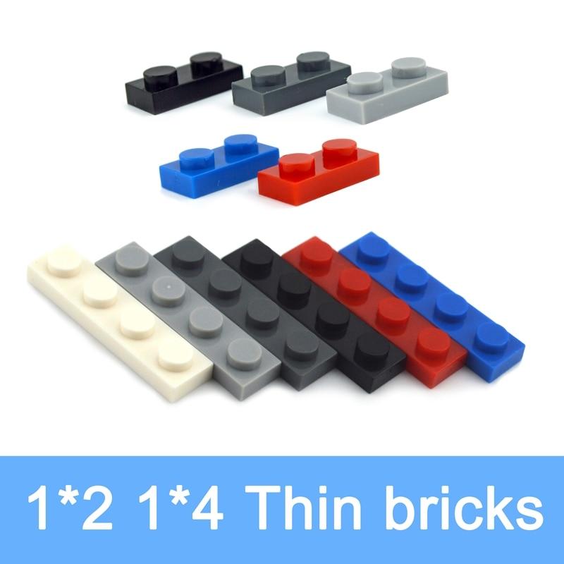 1x2 1x4 puntos figuras delgadas ladrillos varios colores educativos creativos tamaño DIY juego a granel bloques compatibles piezas clásicas