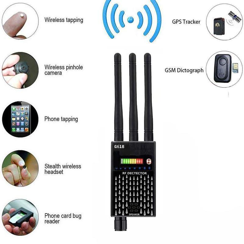 Detector Hidden Camera Detector Anti-eavesdropping Wireless Signal Detector 3 Antenna Anti-spyware CDMA Signal Finder enlarge
