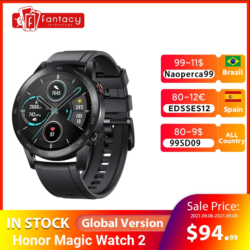Review Global Version Honor Magic Watch 2 Smart Watch Bluetooth 5.1 Smartwatch 14 Days Waterproof Sport Watch Dual Mode For Android iOS
