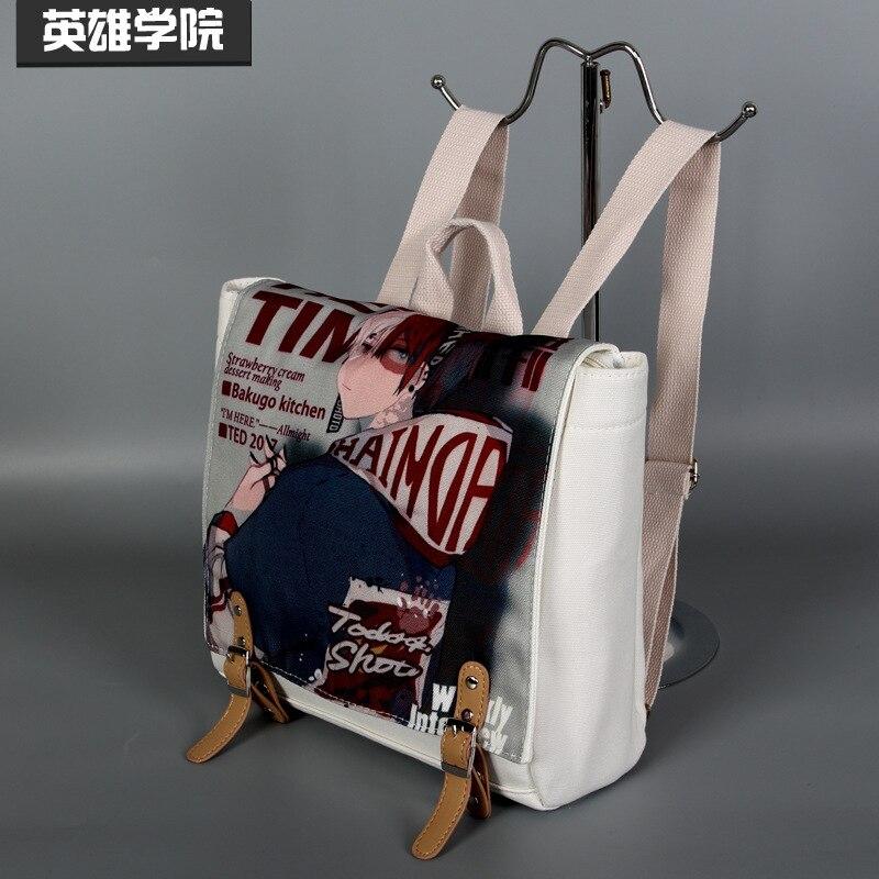 Mochila My Hero Academia Todoroki Shoto Midoriya Izuku Charge, bolso de hombro de colegio para estudiantes, mochila para portátil para adolescentes