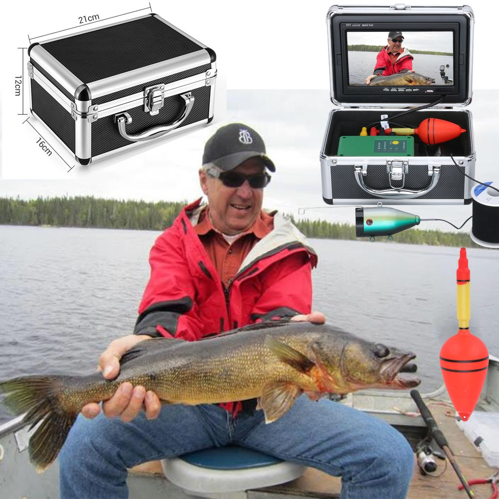 MAOTEWANG DVR Fish Finder Underwater Fishing Camera HD 1280*720 Screen 30pcs LED 1080P Camera For Ice/River/ Fishing 16GB Card enlarge