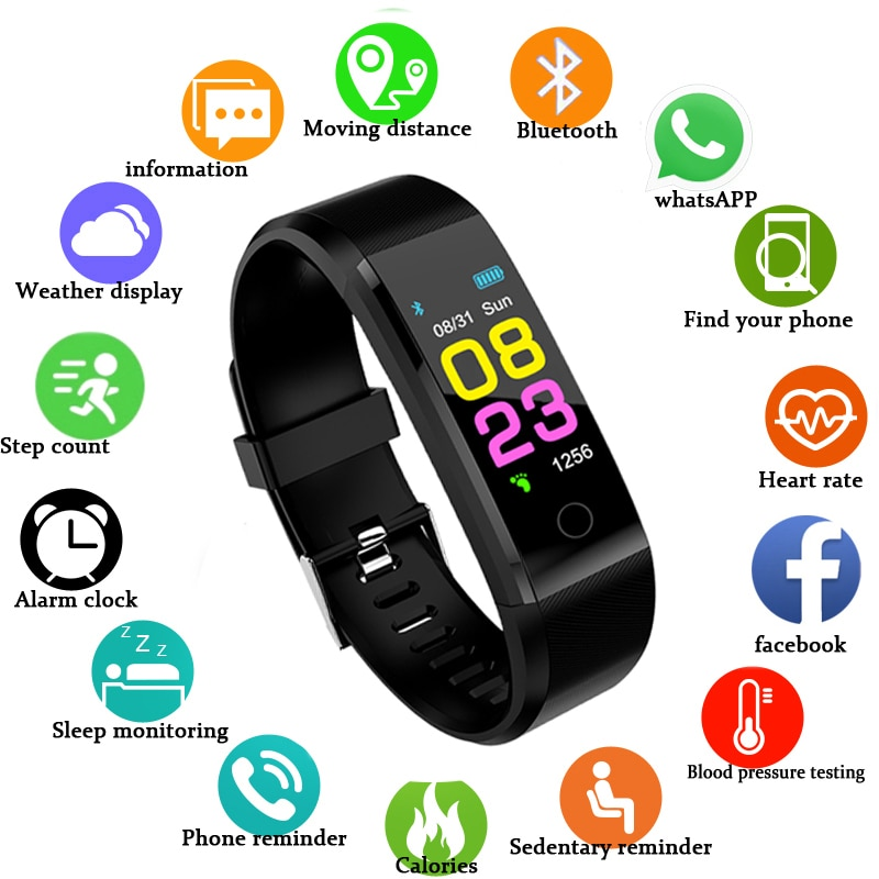Новые смарт-часы для мужчин и женщин, монитор сердечного ритма, артериального давления, фитнес-трекер, умные часы, спортивные часы для ios android + коробка