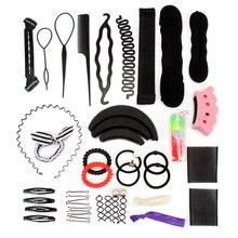 Beignet fabricant de cheveux coiffure outils de coiffure tressage accessoires de cheveux pour les femmes torsion pince à cheveux disque tirer épingles à cheveux Multi Style